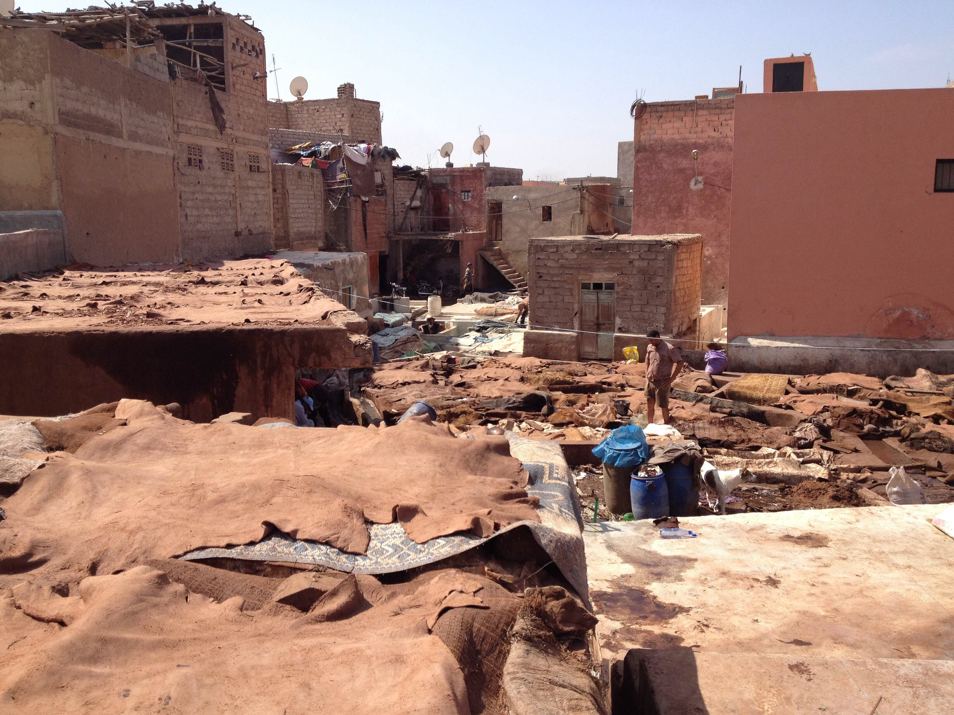 tanneries marrakech morocco
