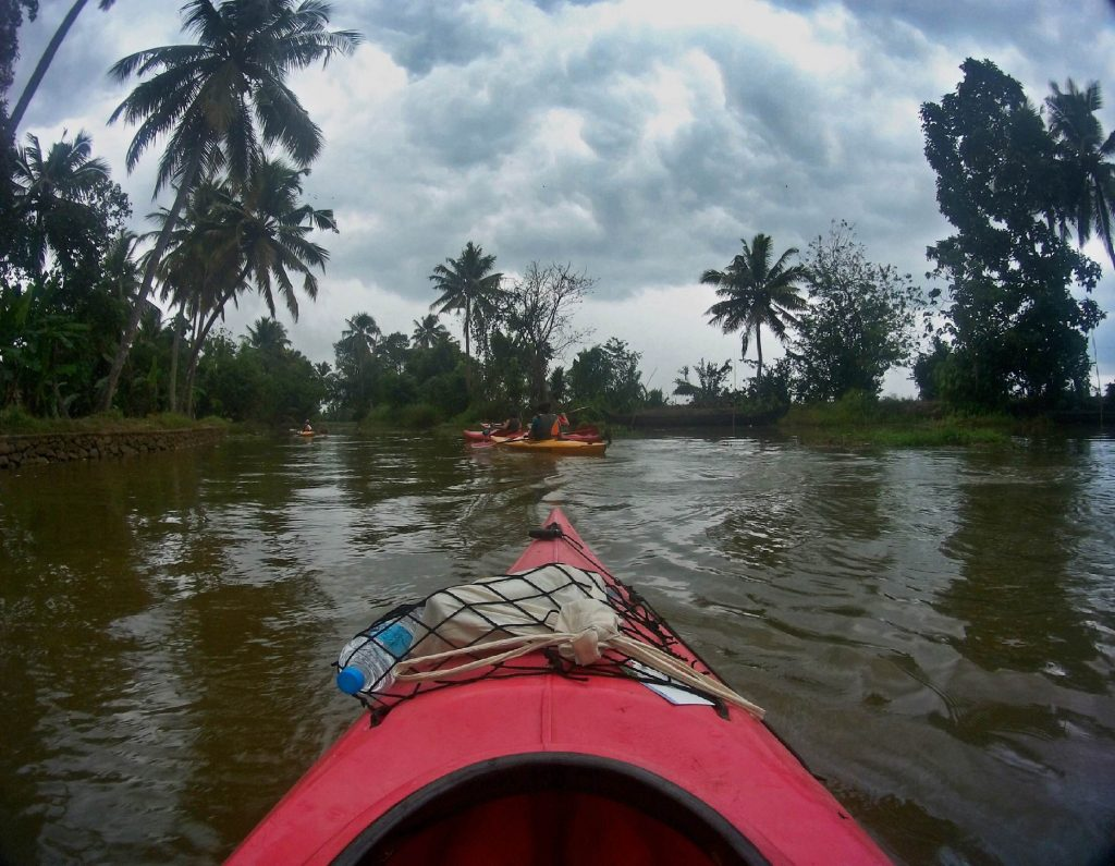 Kayaking in the Kerala backwaters was a magic experience...