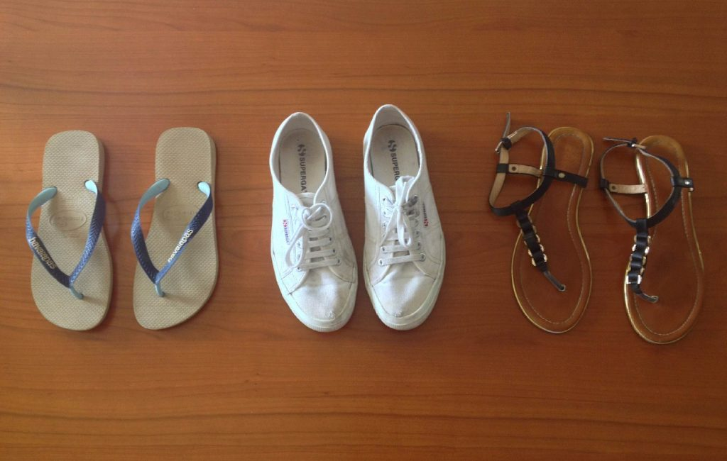 What to pack for Kerala - the shoes