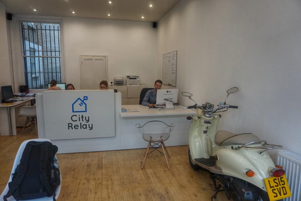 """City Relay"" reception desk"