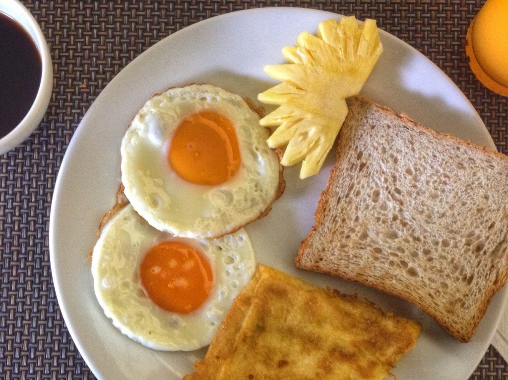 Some picture perfect eggs at Duangjitt Resort
