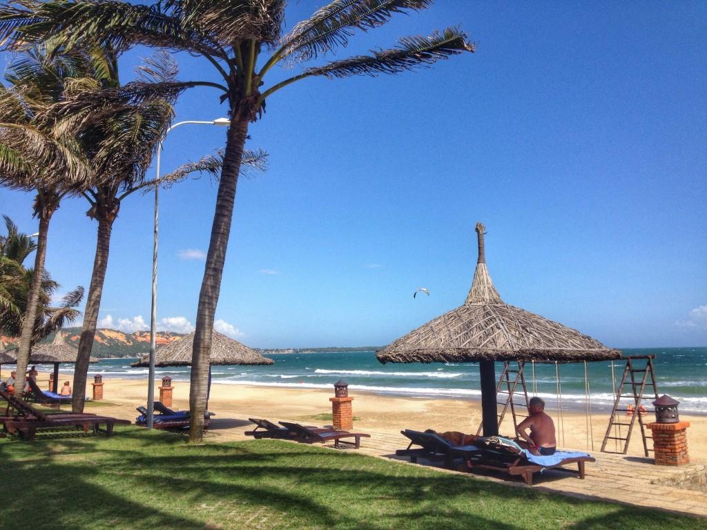 Private beach at Pandanus Resort