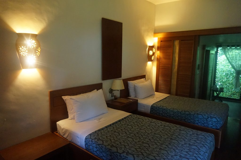 Twin room at Sukau Rainforest Lodge