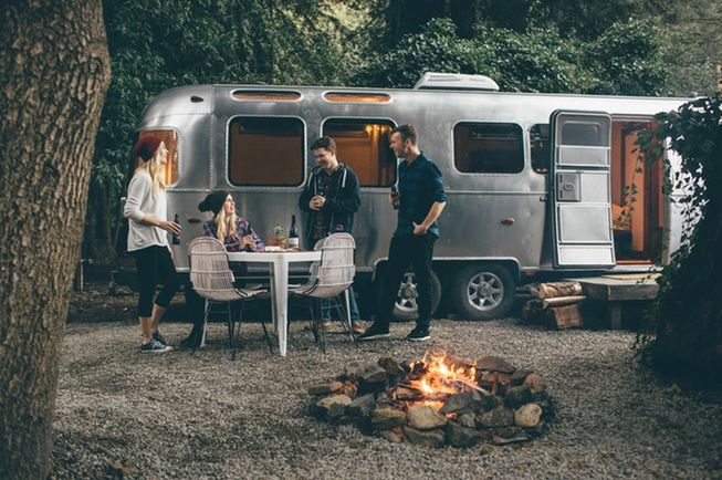 12 Epic Glamping Destinations in the USA - Autocamp Santa Barbara, a glamping experience in luxury, vintage airstreams. Photo by Mesa Lane Partners