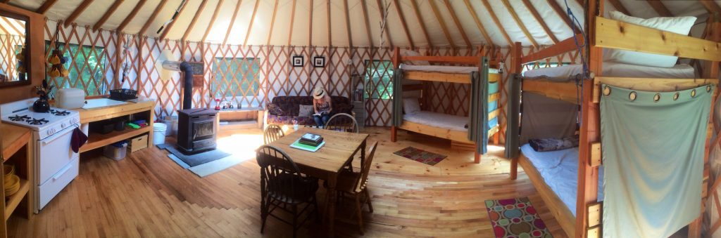 12 Epic Glamping Destinations in the USA - Maine Forest Yurts, Maine . Photo by Maine Forest Yurts