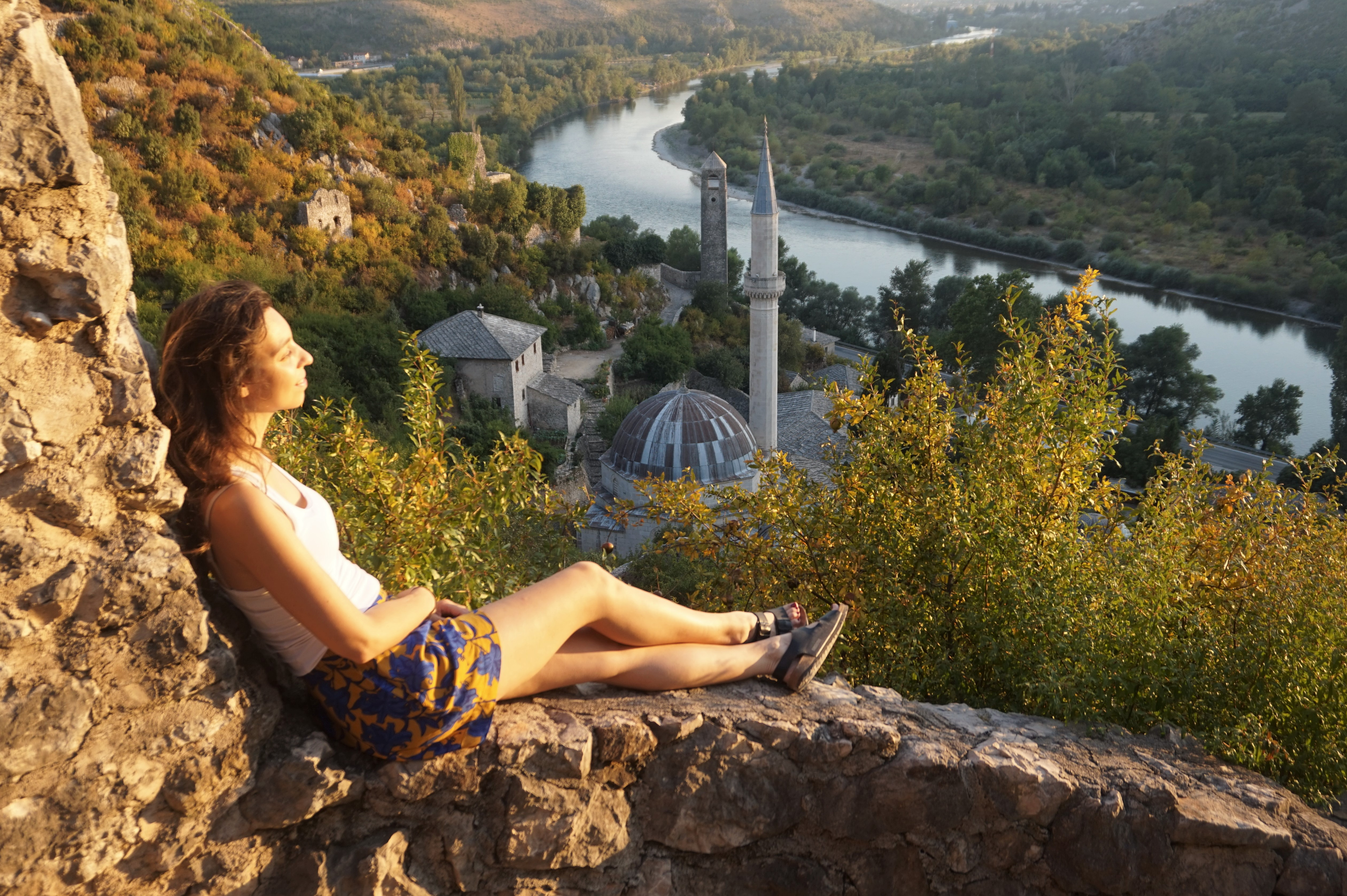 Gorgeous views over Pocitelj - The Ultimate Balkans Road Trip Itinerary