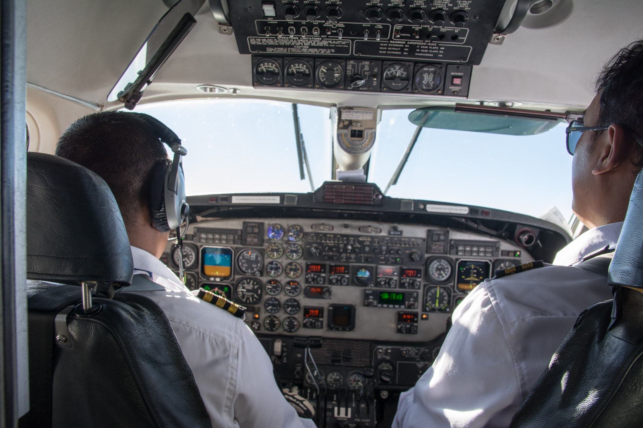 Time in the cockpit with the pilots - Mountain Flight in Nepal